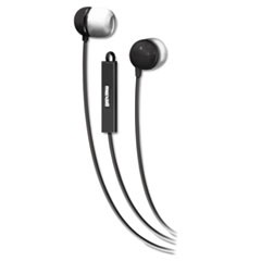 In-Ear Buds with Built-in Microphone, Black/White