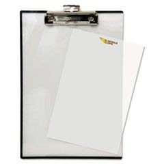 "Quick Reference Clipboard, 1/2"" Capacity, 8 1/2 x 11, Clear"