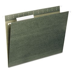 7530013576855, Hanging File Folder, Legal Size, 1/5 Cut Top Tabs, Green, 25/Box