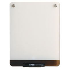 1Clarity Glass Personal Dry Erase Boards, Ultra-White Backing, 12 x 16
