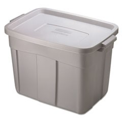 Roughneck Storage Box, 18 gal, Steel Gray