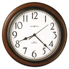 "Talon Auto Daylight-Savings Wall Clock, 15.25"" Overall Diameter, Cherry Case, 1 AA (sold separately)"