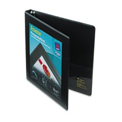 "Framed View Heavy-Duty Binders, 3 Rings, 0.5"" Capacity, 11 x 8.5, Black"