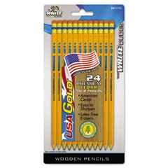 USA Gold Series #2 Pencils, Cedar, Yellow, 24/Pack