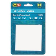 Transparent Film Sticky Notes, 3 x 3, Clear, 50-Sheets/Pad