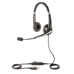 UC Voice 550 Binaural Over-the-Head Corded Headset, Microsoft Certified