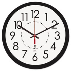 "Electric Contemporary Clock, 14-1/2"", Black"