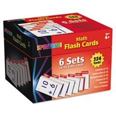 Flash Cards Boxed Set, Math, 4 3/5 x 4 1/4, 354 Card Set
