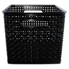 Weave Bins, 13.88 x 10.5 x 8.75, Black, 2/Pack
