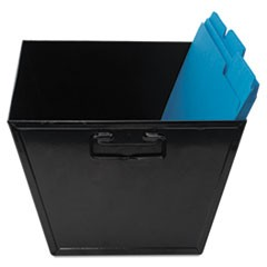 "Steel File and Storage Bin, Legal Files, 15.25"" x 11.25"" x 7.25"", Black"