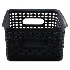 Weave Bins, 9.88 x 7.38 x 4, Black, 3/Pack