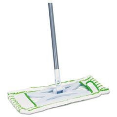 "Microfiber Floor Mop, 48"" Handle, 6 1/2 x 2 1/2 Frame, Green"