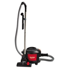 "Quiet Clean Canister Vacuum, Red/Black, 9.0 Amp, 11"" Cleaning Path"