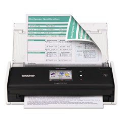 ADS1500W Wireless Compact Scanner, 600 x 600 dpi, 20 Sheet Automatic Feeder