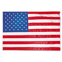 1All-Weather Outdoor U.S. Flag, Heavyweight Nylon, 5 ft x 8 ft