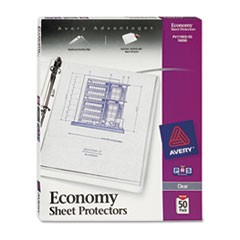 Top-Load Sheet Protector, Economy Gauge, Letter, Clear, 50/Box