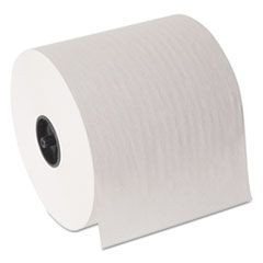 "Hardwound Roll Paper Towel, Nonperforated, 7"" x 1000 ft, White, 6/Carton"