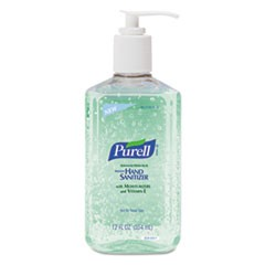 Advanced Instant Hand Sanitizer w/Aloe, 12oz Pump Bottle, 12/Carton