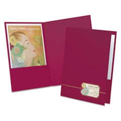 Monogram Series Business Portfolio, Cover Stock, Burgundy/Gold, 4/Pack