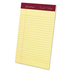 Gold Fibre Writing Pads, Jr. Legal Rule, 5 x 8, Canary, 50 Sheets