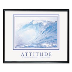 "�Attitude/Waves"" Framed Motivational Print, 30 x 24"