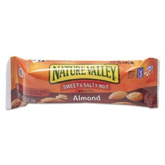 Nature Valley Granola Bars, Sweet & Salty Nut Almond Cereal, 1.2oz Bar, 16/Box