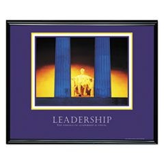"""Leadership"" Framed Motivational Print, 30 x 24"