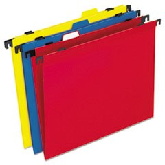 Two-in-One Colored Poly Folders with Built-In Tabs, Letter, Assorted, 10/Pack
