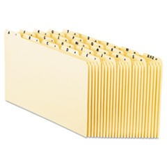 Top Tab A-Z File Guides, 1/5-Cut Top Tab, A to Z, 8.5 x 14, Manila, 25/Set