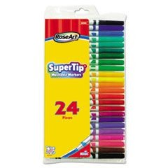 Supertip Washable Markers, 24/Set