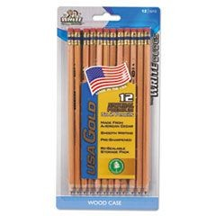 USA Gold Series #2 Pencils, Cedar, Natural, Dozen