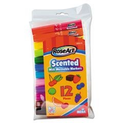 Scented Washable Mini Markers, Assorted, 12/Pack