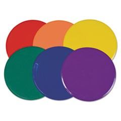 "Extra Large Poly Marker Set, 12"" Diameter, Assorted Colors, 6 Spots/Set"