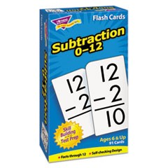 1Skill Drill Flash Cards, 3 x 6, Subtraction