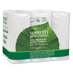 100% Recycled Paper Towel Rolls, 2-Ply, 11 x 5.4 Sheets, 140 Sheets/RL, 24/CT