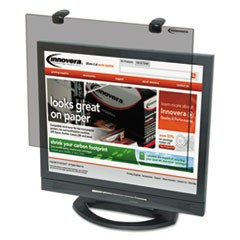 "Protective Antiglare LCD Monitor Filter, Fits 15"" LCD Monitors"