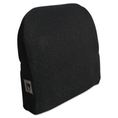 Memory Foam Massage Lumbar Cushion, 12.75w x 3.75d x 12h, Black