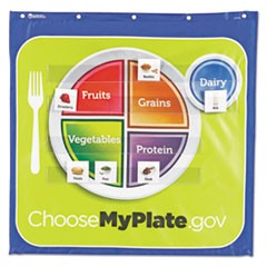 Healthy Helpings My Plate Pocket Chart with 90 Food Cards, 7 Pockets, 28 x 28
