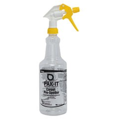 Empty Color-Coded Trigger-Spray Bottle, 32 oz, Yellow, for Carpet Pre-Spotter