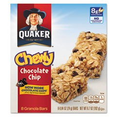 Granola Bars, Chewy Chocolate Chip, .84oz Bar, 8/Box, 12 Boxes/Carton