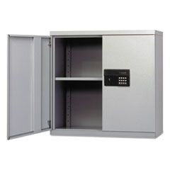 Quick-Assemble Electronic Lock Cabinet, 30w x 12d x 30h, Light Gray