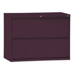 800 Series Two-Drawer Lateral File, 36w x 19-1/4d x 28-3/8h, Burgundy