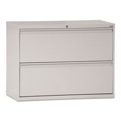 800 Series Two-Drawer Lateral File, 36w x 19-1/4d x 28-3/8h, Light Gray