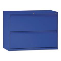 800 Series Two-Drawer Lateral File, 36w x 19-1/4d x 28-3/8h, Blue