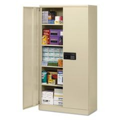 Quick-Assemble Electronic Lock Cabinet, 36w x 18d x 72h, Putty
