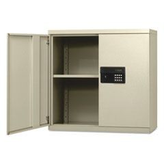 Quick-Assemble Electronic Lock Cabinet, 30w x 12d x 30h, Putty