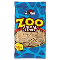 Zoo Animal Crackers, Original, 2 oz Pack, 80/Carton