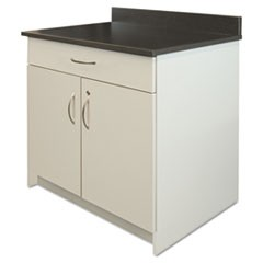 Hospitality Base Cabinet, Two Door/Drawer, 36 x 24 3/4 x 40, Gray/Granite Nebula
