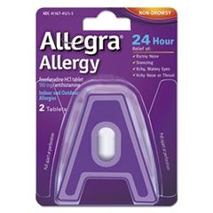 24 Hour Allergy Relief, 2 Tablets/Pack