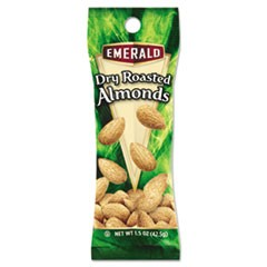 Dry Roasted Almonds, 1.5 oz. Tube Package, 12/Box